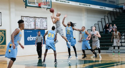 RMC mens basketball win against Great Falls 83-69 on February 4th. Photo by Ean McLaughlin