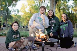 S'mores and campfires at the pep rally - Homecoming September 2021