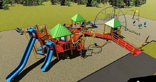 Model of the proposed all-inclusive playground. Photo courtesy of EveryChildPlaysBillings.org.