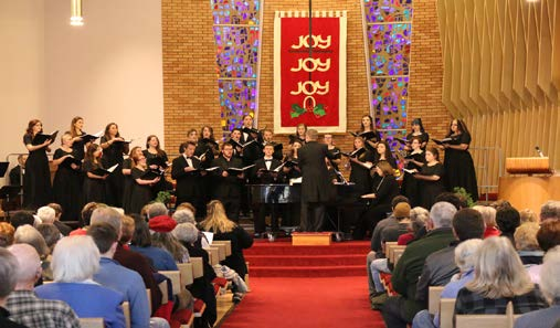 RMC choir sings in 2018 Lessons and Carols concert. Photo courtesy of the RMC media team.