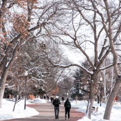 RMC students walking to class