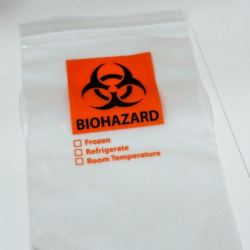 COVID-19 Testing Biohazard bag Photo by Oliver Walker