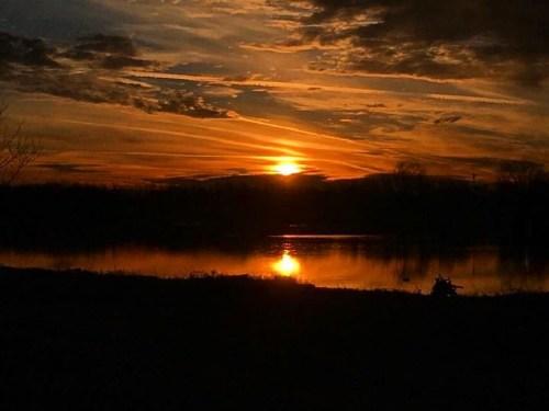 Sunrise over Jacobson Lake in November