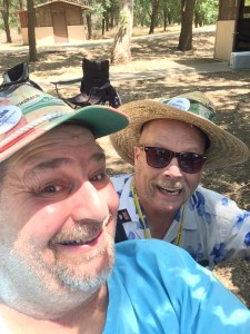 With pal Kevin Twitchell at Woodflock 2015