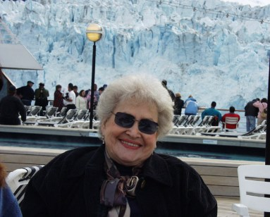 Arlene on an Alaska Cruise to Alaska in 2004. We joined the family on this cruise