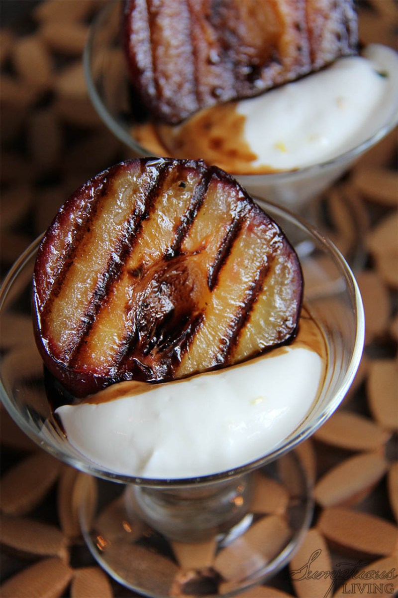 Grilled Peaches with Balsamic Reduction & Lemon Curd Yogurt ...