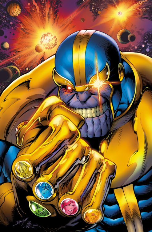 Thanos and the Infinity Gauntlet. Mark Bagley. Avengers Assemble #7, 2012