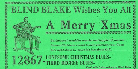 Blind Blake wishes you a Merry X-mas