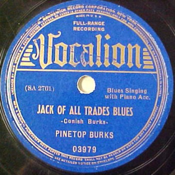 Pinetop Burks: Jack Of All Trades Blues