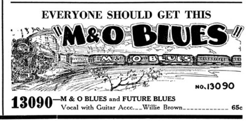 Willie Brown M & O Blues Ad