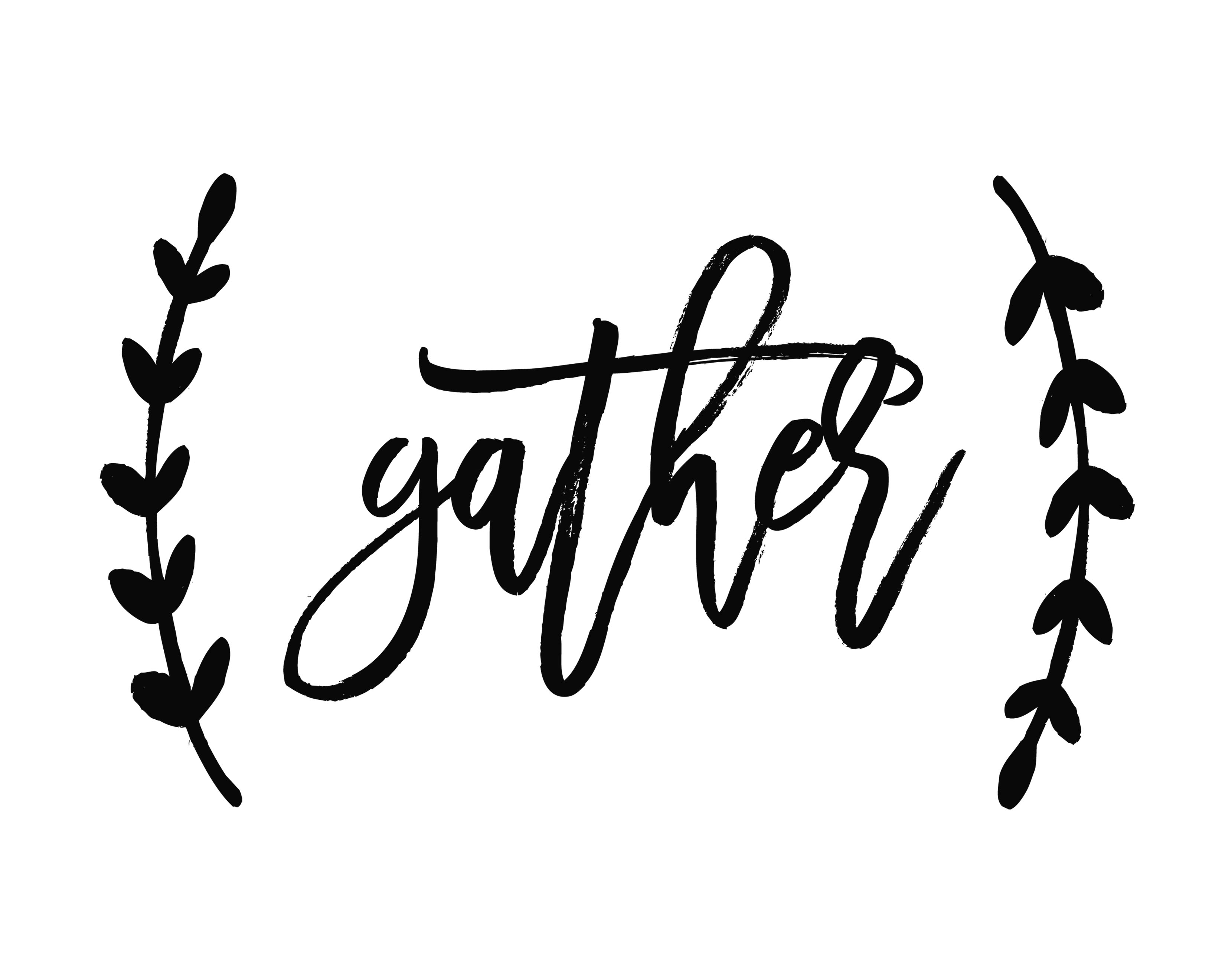 picture relating to Gather Printable referred to as Thanksgiving Printable - Sunday Snug