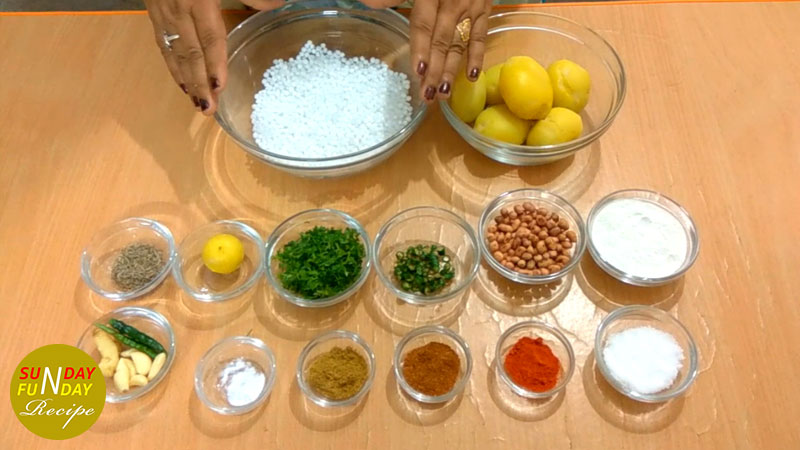 Sabudana Vada ingredients