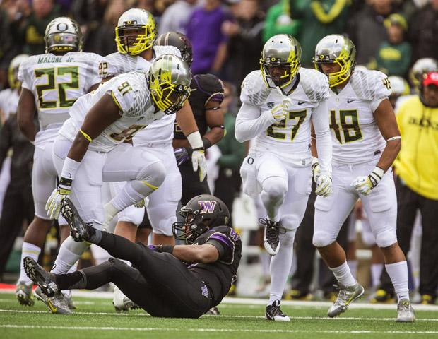 The Oregon Ducks have made a case to be the top team in the nation following a convincing 45-24 win over No. 16 Washington on Saturday. Photo courtesy of MCT