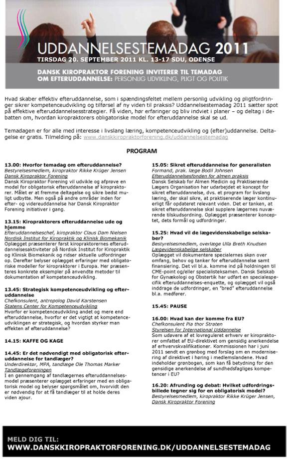 Temadag om effektiv efteruddannelse