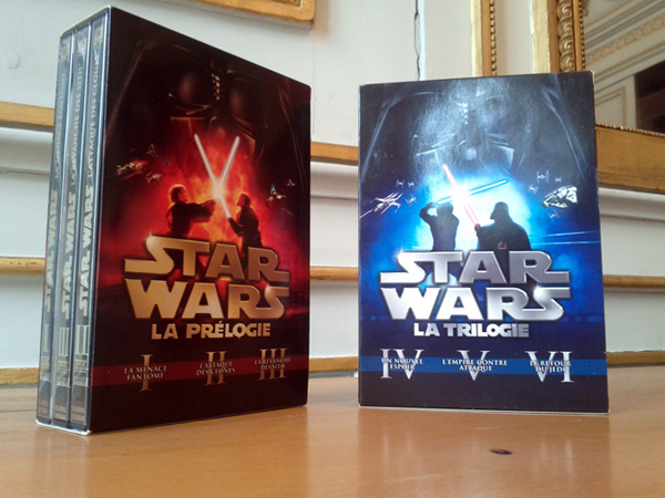 DVDS de la sixlogie Star Wars
