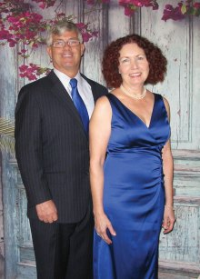Greg and Mary Jane Eckert at the Get a Spring in your Step dinner dance.