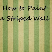 How to a Paint Striped Wall