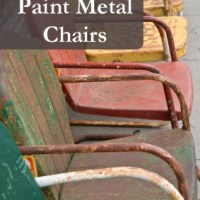 Painting Metal Chairs- The 411