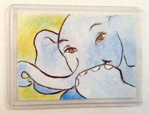 Elephant Giggling Art Print