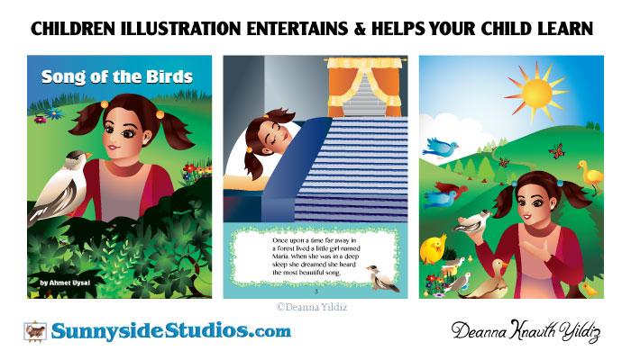 Children Illustrations by Deanna