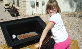 Kids can safely cook in a solar oven