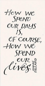 How We Spend our Days