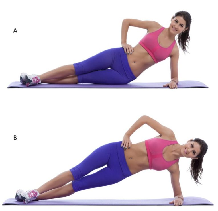 Side Plank with Hip Dip -body sculpting
