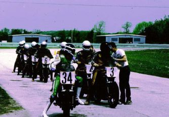 group of students at Road America, 1982.