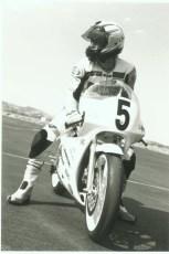 Keith at special 125 GP school, 1996.