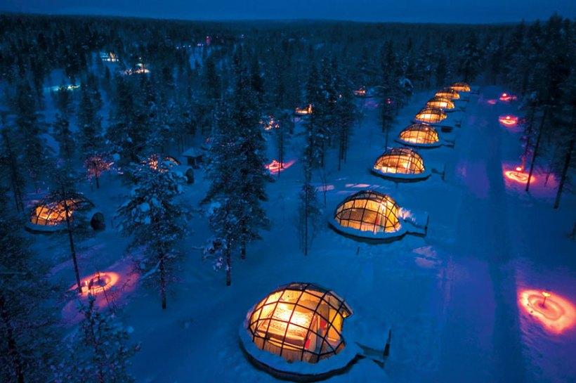 Отельный комплекс Kakslauttanen, Финляндия