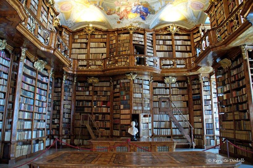 A biblioteca do mosteiro de St. Florian, Áustria