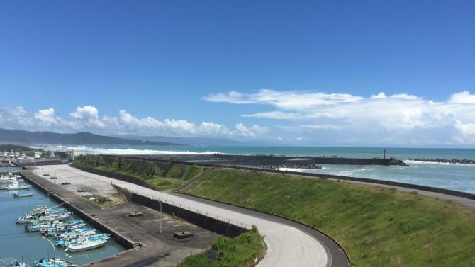 香南市吉川町の吉川展望台から望む太平洋
