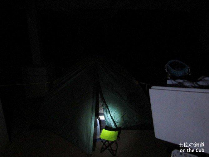 本日の寝床は樫西キャンプ場