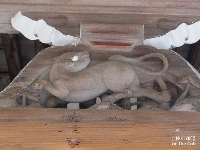 動物の装飾も珍しいですね