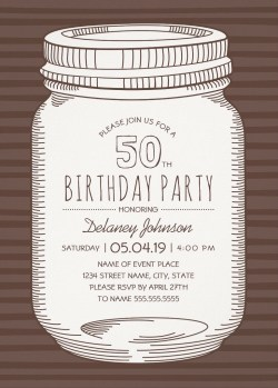 Pristine Him Templates 50th Birthday Invitations Spanish Rustic Mason Jar Birthday Party Invitations Vintage Country Cards Outdoor Birthday Invitations Archives Superdazzle Custom 50th Birthday Invita