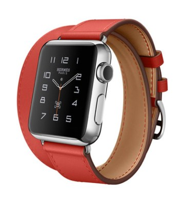 Double Tour 38mm Stainless Steel Case Capucine Leather Band