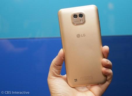 LG X cam золотой с двумя камерами