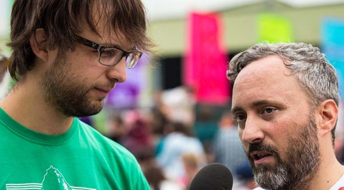 Galaxians Interview at The Garden Party 2015