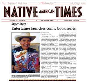 Native American Times Cover featuring Super Indian