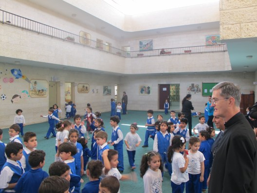 Visiting an elementary school of Gaza