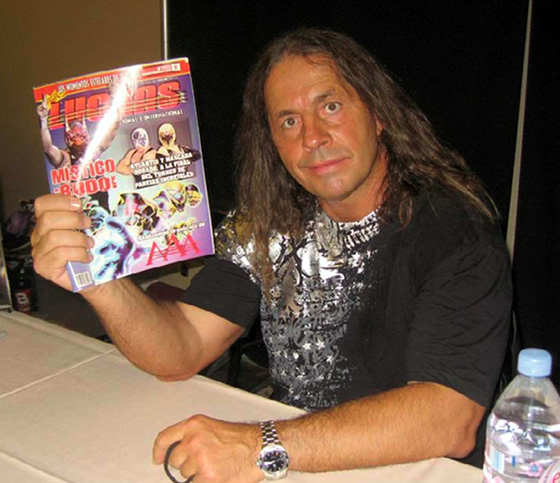 "Bret ""Hitman"" Hart en WrestleReunion 4 / Photo by Manuel Flores"