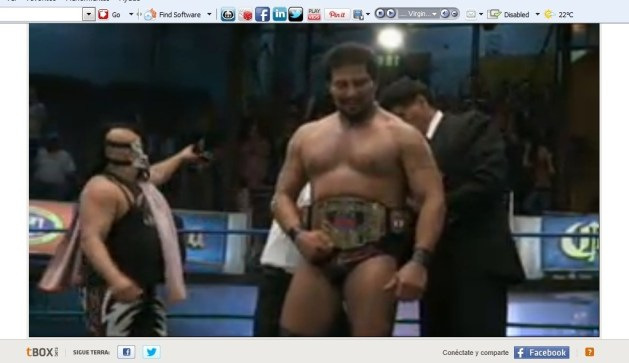 El Terrible, firme Campeón Mundial Completo del CMLL / Arena Coliseo, DF - 2 de dic. de 2012 / Captura de pantalla por Dement X-treMEX 187 - deportes.terra.com.mx
