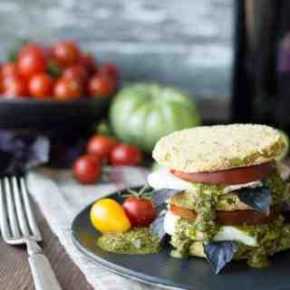 fried green tomato caprese | superman cooks
