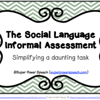 The Social Language Informal Assessment