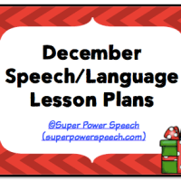December Speech Lesson Plans 2014