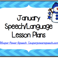 January Speech Lesson Plans 2015
