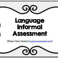Language Informal Assessment