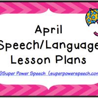 April Lesson Plans 2015