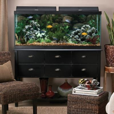 top fin 75 gallon aquarium hood combo glass aquarium with