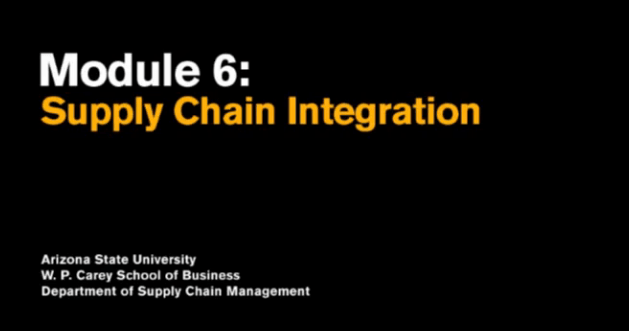 Module 6 - Supply Chain Integration
